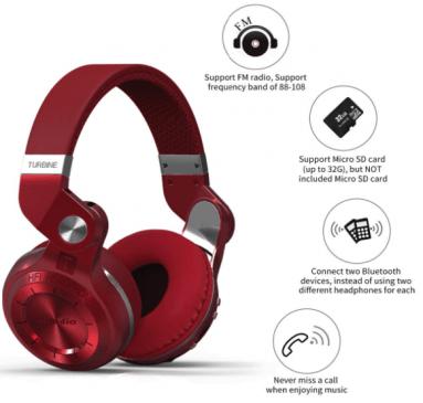 Bluedio T2 Plus Turbine Bluetooth Headphones