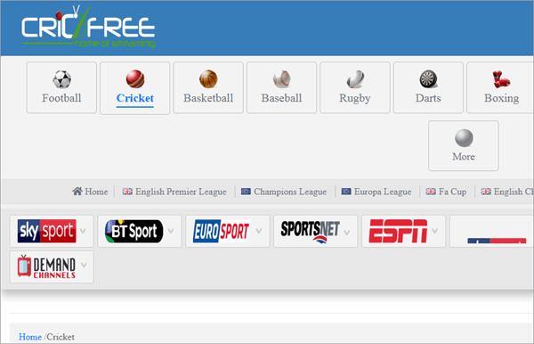 Cric Free TELEVISION